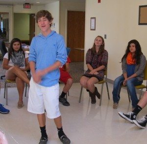 New YAB members play games at first meeting
