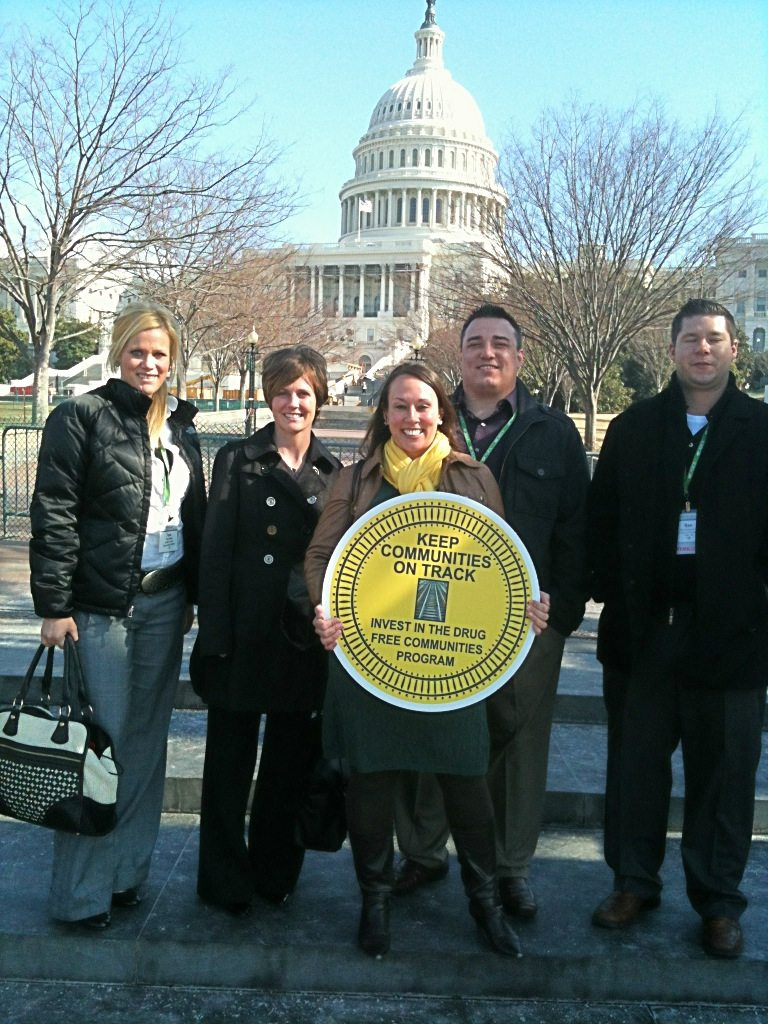 Community Coalition Coordinator Tana Nelson (left) with the other Nebraska attendees of CADCA.