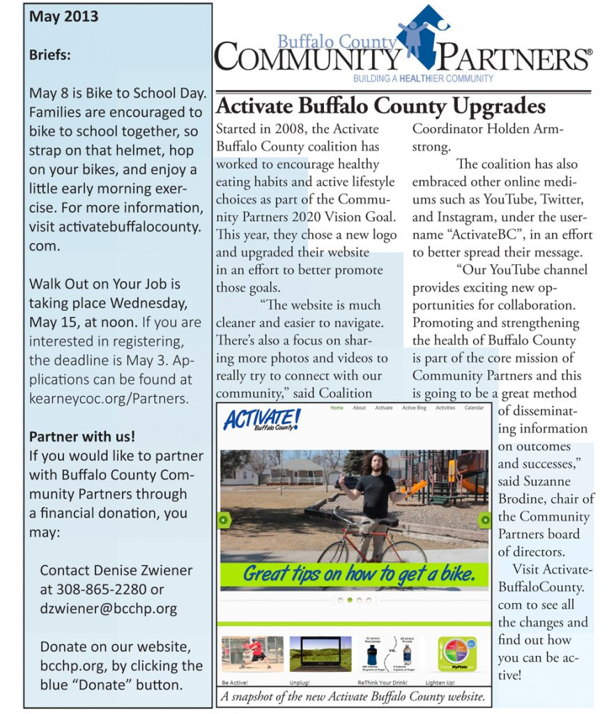 May Newsletter Available Online