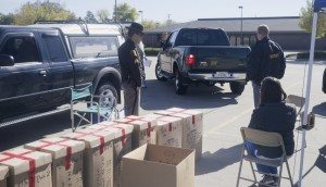 Over eight boxes, totalling over 400 lbs of unwanted medicine, were collected in April.