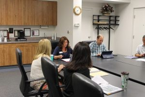 Kearney Works first official board meeting, July 26, 2016. They discussed funding, goals and vision, as well as initial projects for unemployed and underemployed in Buffalo County.